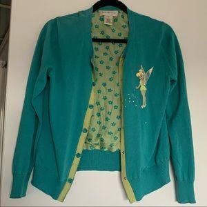 VTG Hand Sewn Tinkerbell Cardigan size Medium